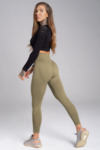 Gym Glamour - Seamless Leggings – Combat - Seitlich