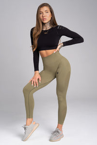 Gym Glamour - Seamless Leggings – Combat - Vorderseite