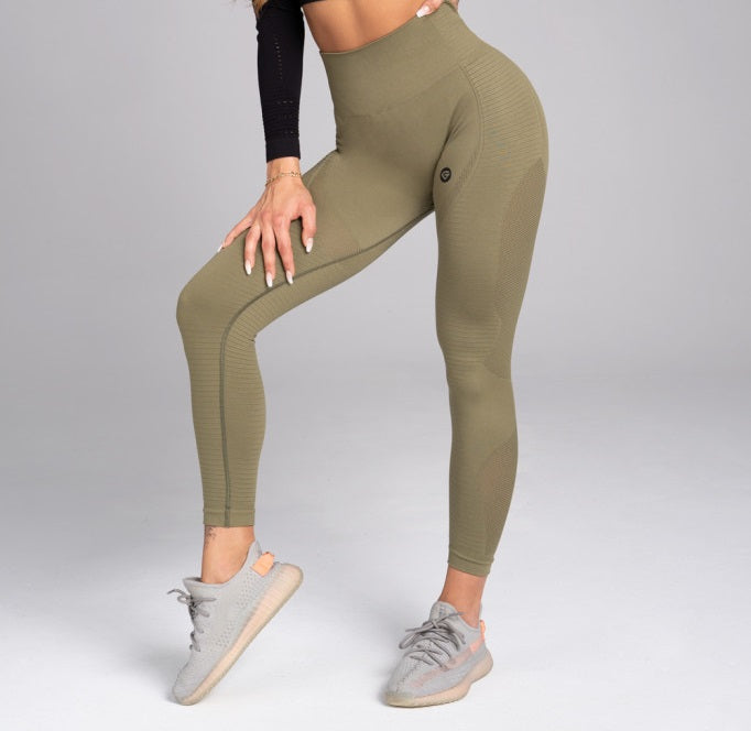 Gym Glamour - Seamless Leggings – Combat - Vorderseite Detail