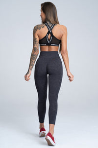 Gym Glamour - Seamless Leggings – Dark Blue - Rückseite