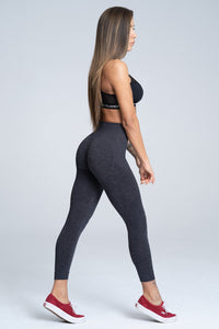 Gym Glamour - Seamless Leggings – Dark Blue - Seitlich