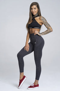 Gym Glamour - Seamless Leggings – Dark Blue - Vorderseite