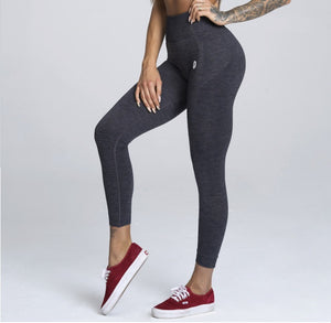 Gym Glamour - Seamless Leggings – Dark Blue - Vorderseite Detail