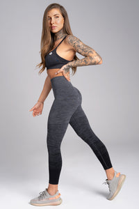 Gym Glamour - Seamless Leggings – Grey Ombre - Seitlich