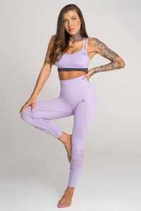 Gym Glamour - Seamless Leggings – Lila - Vorderseite 3