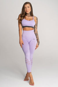 Gym Glamour - Seamless Leggings – Lila - Vorderseite 1