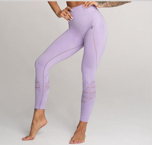 Gym Glamour - Seamless Leggings – Lila - Vorderseite Detail