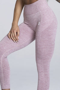 Gym Glamour - Seamless Leggings – Pink Melange - Detail