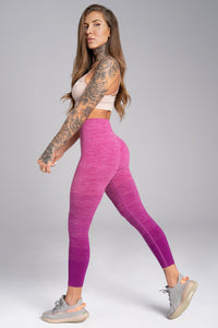 Gym Glamour - Seamless Leggings – Pink Ombre - Seitlich