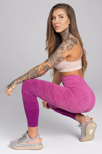 Gym Glamour - Seamless Leggings – Pink Ombre - Sitzend