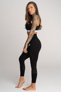 Gym Glamour - Seamless Leggings – Sepia - Seitlich