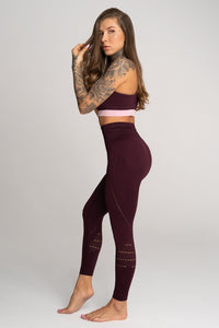 Gym Glamour - Seamless Leggings - Vino Rosso - Seitlich