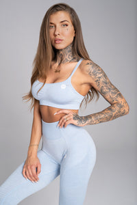 Gym Glamour - Seamless Top - Dream Blue - Vorderseite