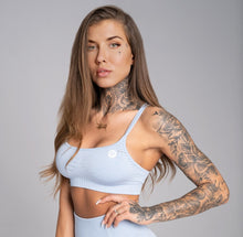 Gym Glamour - Seamless Top - Dream Blue - Vorderseite Detail