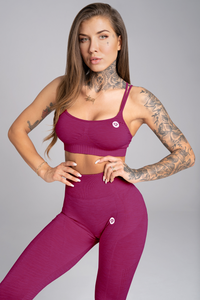 Gym Glamour - Seamless Top - Jelly Berry - Vorderseite