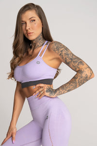 Gym Glamour - Seamless Top - Lila - Seitlich