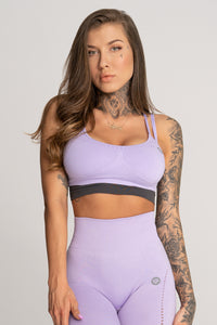 Gym Glamour - Seamless Top - Lila - Vorderseite