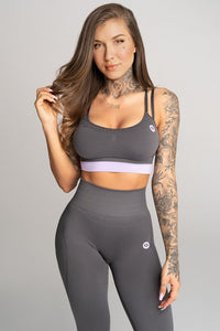 Gym Glamour - Seamless Top - Space Grey - Vorderseite
