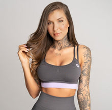 Gym Glamour - Seamless Top - Space Grey - Vorderseite Detail