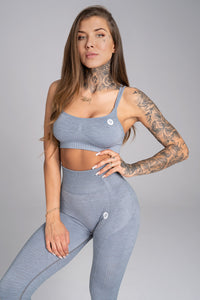Gym Glamour - Seamless Top - Steel Grey - Vorderseite