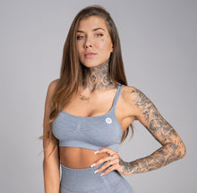 Gym Glamour - Seamless Top - Steel Grey - Vorderseite Detail