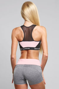 Gym Glamour - Shorts - Grey & Pink - Rückseite