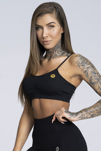 Gym Glamour - Simple Bra - Black - Vorderseite