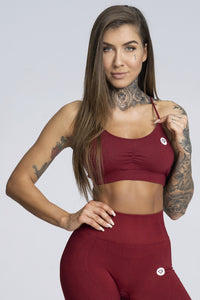Gym Glamour - Simple Bra - Burgundy - Vorderseite
