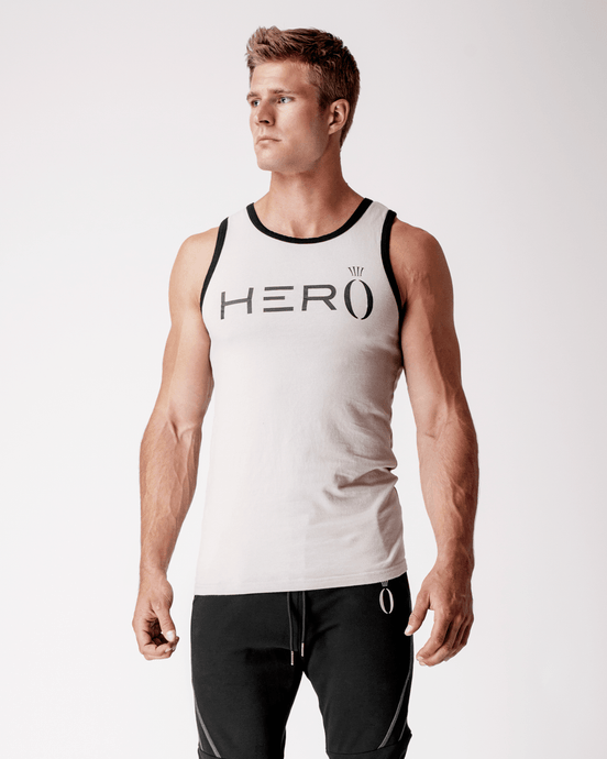 HERA x HERO - Boxx Tank Top - Light Grey - Vorderseite