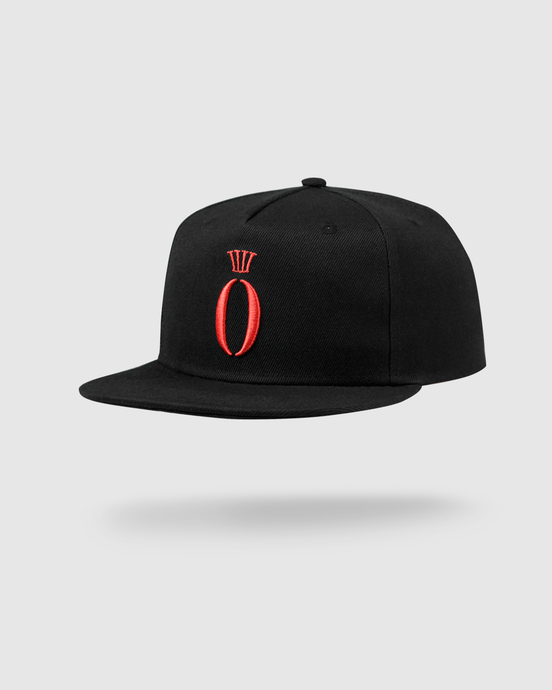 HERA x HERO - Snapback Cap - Black & Red - Vorderseite