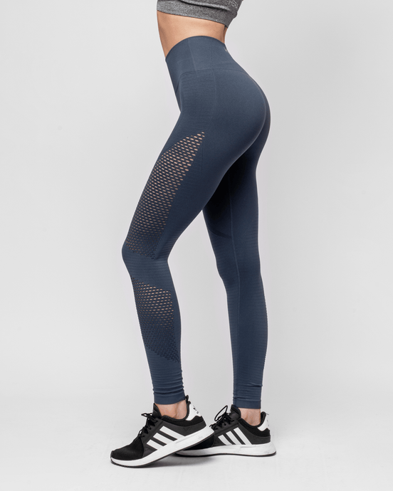 HERA x HERO - Le Papillon Seamless Legging - Steel Grey - Seitlich