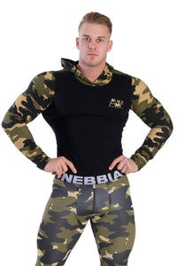Nebbia - Hoodie AW - Camo (116) - Vorderseite Detail