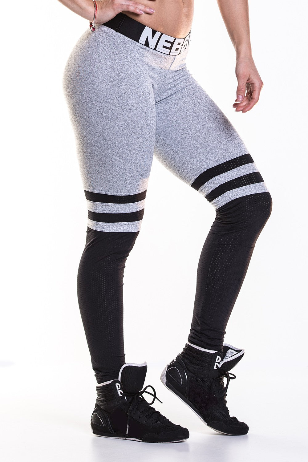 Nebbia - Leggings Over the Knee - Grey (286) - Seitlich
