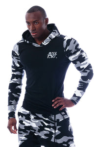 Nebbia - Hoodie AW - White Camo (116) - Vorderseite