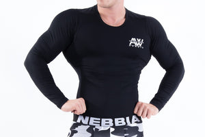 Nebbia - AW Long Sleeve - Black - Vorderseite