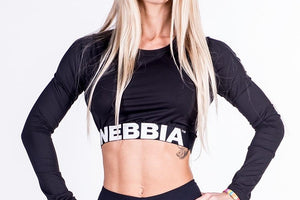 Nebbia - Crop Top - Black (269) - Vorderseite Detail