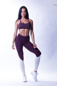 Nebbia - High Waist NS Leggings - Burgundy & Vanilla (638)