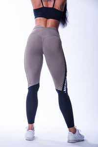 Nebbia - High Waist Mesh Leggings - Khaki (601) - Rückseite