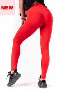 Nebbia - One Tone Pattern Leggings - Red (677) - Rückseite