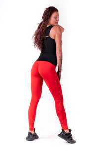 Nebbia - One Tone Pattern Leggings - Red (677) - Seitlich Gesamt 2