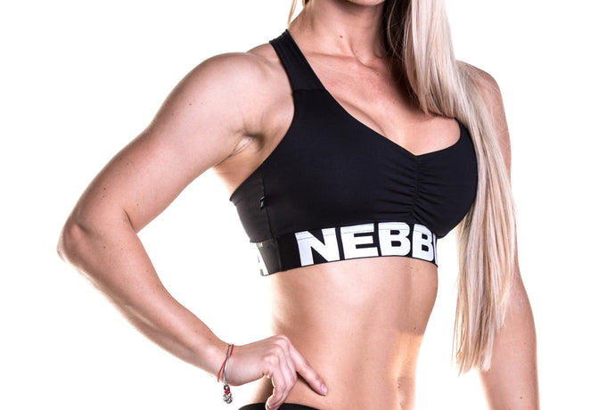 Nebbia - SUPPLEX Mini Top - Black (207) - Vorderseite Detail