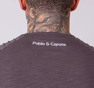 Pablo & Capone - Mercury Shirt - Steel Grey - Rückseite Detail