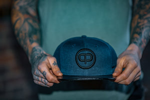 Pablo & Capone - Leathersnap Cap - Navy Blue & Black