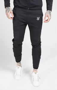 SikSilk - Creased Nylon Pants - Black