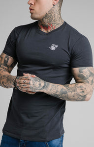 SikSilk - Straight Hem Gym Tee - Navy