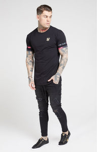 SikSilk - Tournament Tee – Black & Oil Paint