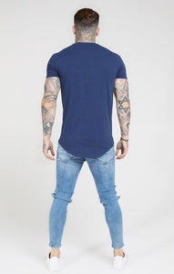 SikSilk - Core Gym Tee - Navy Blue