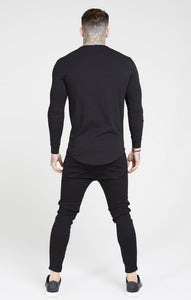 SikSilk - Drop Crotch Denim - Black