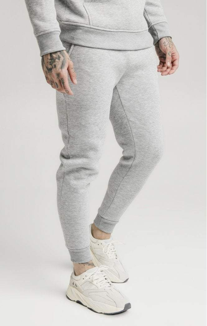 SikSilk - Muscle Fit Jogger – Grey Marl