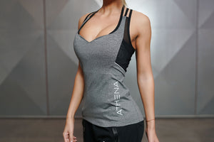 Body Engineers - CETO SPIDER Tank Top – Grey Melange - Vorderseite